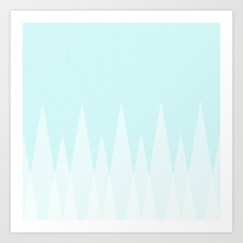 Light Teal Triangles